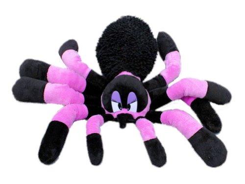 Inware 6920 - Kuscheltier Spinne, lila/schwarz, 45 cm, Schmusetier