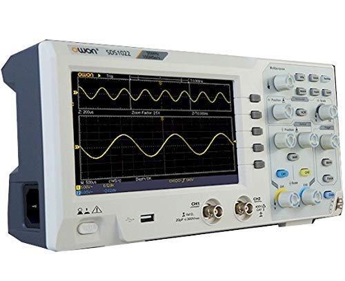 OWON ハイコストパフォーマンスデジタルオシロスコープ 100Ms/s 20MHz帯域 薄型軽量 SDS1022