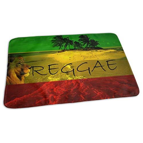 Matelas à langer portable - Imperméable et réutilisable - Pour changer de couche - Design unisexe pour filles et garçons - Reggae Rasta Flag Lion