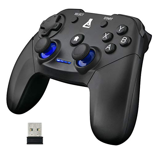 THE G-LAB K-Pad Thorium Wireless - Gaming-Controller PC & PS3 mit integrierter Vibration, Gamepad-Game-Controller-Kabel verbunden - Joystick für PC Windows XP-7-8-10, PS3, Android (Kabellos)