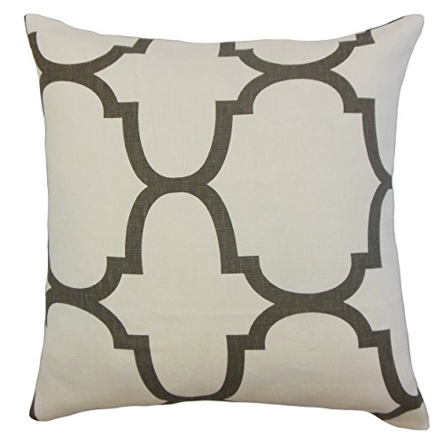 The Pillow Collection P18-PT-RIAD-CLOVE-L100 - Almohada geométrica en Cascada