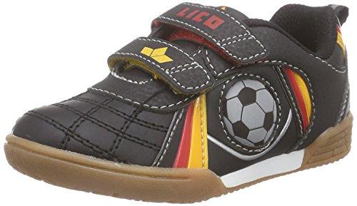 Lico Nikos V Unisex Kinder Multisport Indoor Schuhe, Schwarz/ Rot/ Gold, 32 EU