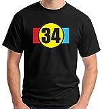 TRK PioNmY Maglia T-Shirt T Shirt Moto Kevin Schwantz Numero 34 Biker
