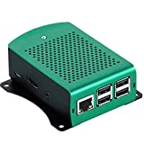 Formulaone para Raspberry Pi 3 Modelo B Plus Aluminio Plata Verde Negro Caja Caja de Metal RPI 3 Caja con Raspberry Pi 3 Modelo B-Verde