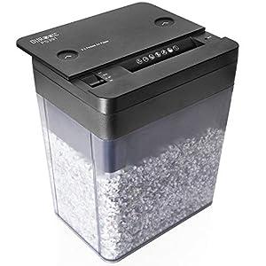 Duronic PS391 Destructora trituradora de papel con microcorte para máxima seguridad, de 5 l y 500W - Garantiza cumplimiento de LOPD, tritura 3 hojas A4 dobladas - Papelera para escritorio y oficina