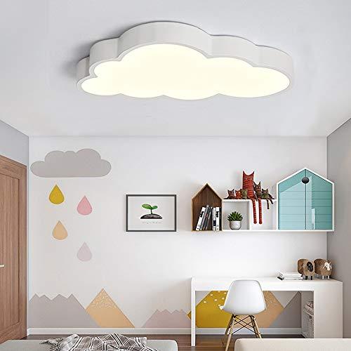 Plafoniera A LED Lampada Per Camera Da Letto Per Bambini Plafoniere Nuvole Bianche Ragazzi E Ragazze Dimmerabile Lampade Per Bambini Ambiente Da Letto Per Da Soffitto A Fumetto Paralume,Warmlight