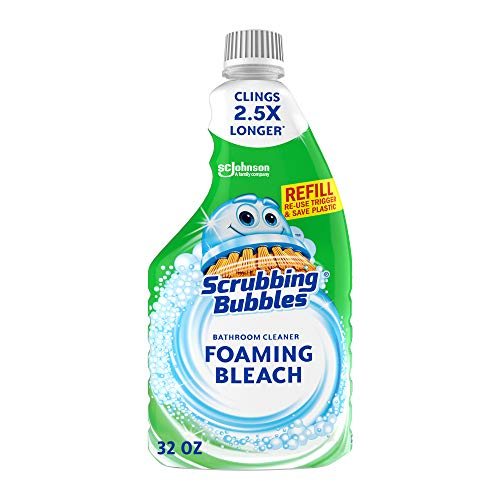 Scrubbing Bubbles Foaming Bleach Bathroom Cleaner Refill, Erases Mold and Mildew Stains, 32 Fl oz.