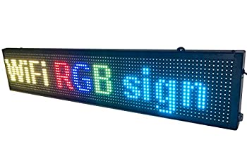 LED WiFi+USB RGB color sign 40  x 8  with high resolution P10 and new SMD technology Perfect solution for advertising