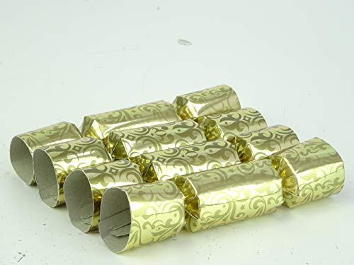 Toyland Pack of 8-13cm Mini Gold Christmas Party Favors
