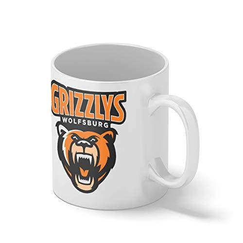 Grizzlys Wolfsburg Eishockey Mannschaft Teamgeschenk Weißer Becher Mug | Lustige Neuheit Tassen für Kaffee Tee 312ml