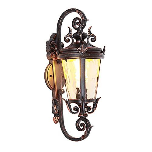 Lámpara De Pared Al Aire Libre Vintage, Lámpara De Pared Al Aire Libre Retro Impermeable, E27 Lámparas De Exterior - Lámparas De Pared De La Casa Antiguas XL