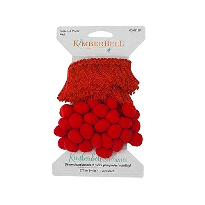 Kimberbell KDKB130 Tassels & Poms, Red