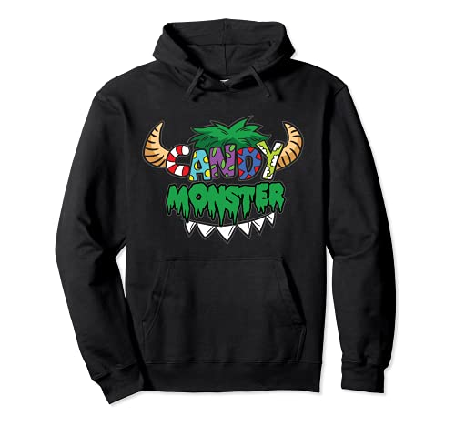Candy Monster - Disfraz infantil San Martn Halloween Sudadera con Capucha