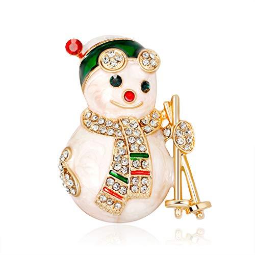 Xurgm Weihnachten Blinkend Brosche Weihnachten Schmuck Geschenk Urlaub Weihnachtsfeier Kleid Dekorationen