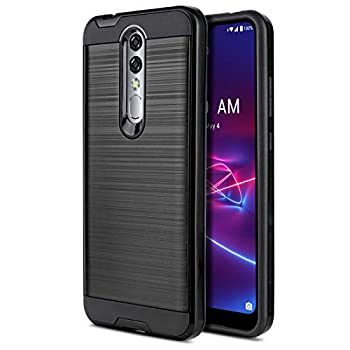 CaseMart Phone Case for [Coolpad Legacy Brisa] [Protech Series][Black] Brushed Protective Slim Cover for Coolpad Legacy Brisa  Boost Mobile  CP3706AS