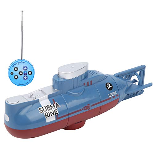 VGEBY Barco Submarino RC, Mini Juguete Submarino con Control Remoto Juguete Submarino para pecera