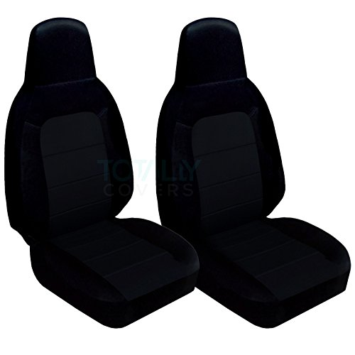 Totally Covers Compatible with 2006-2015 Mazda MX-5 Miata Seat Covers: Black (22 Colors) Seat Belt Holder & Side Airbag Compatible Bucket