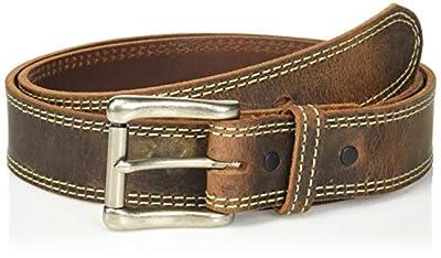 Nocona Belt Co. Men's Nocona Austin USA Double Stitch Work Belt, brown, 42