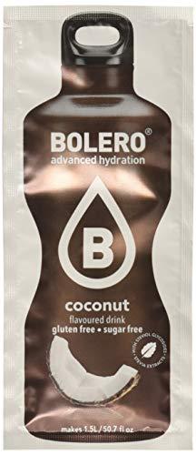 Bolero Bebida Instantánea sin Azúcar, Sabor Coco - Paquete de 24 x 9 gr - Total: 216 gr