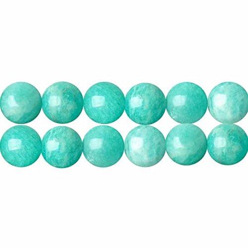 Naturali Pietre Preziose per Collane Braccialetti Perle di Amazzonite Blu Verde AAA Tonde 8mm Circa 38cm un Filo 46 Perline