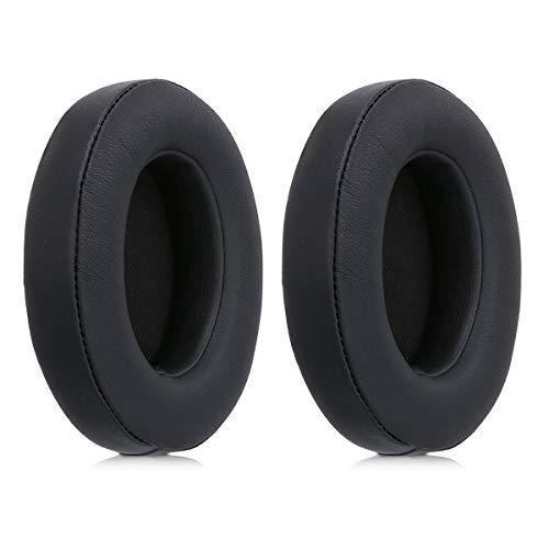 kwmobile Almohadillas compatibles con Beats Studio 2/3 Wireless - 2X Almohadilla de Repuesto para Cascos y Auriculares en Cuero sintético