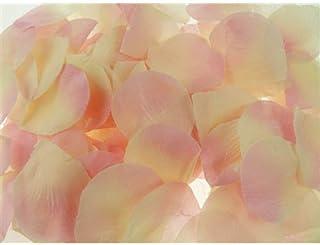 مفرش طاولة قصاصات من بتلات الورد الصناعية من هومفورد، 400 قطعة، وردي/عاجي
