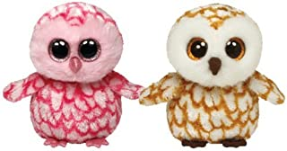 Ty Beanie Boos Owls Swoops and Pinky set