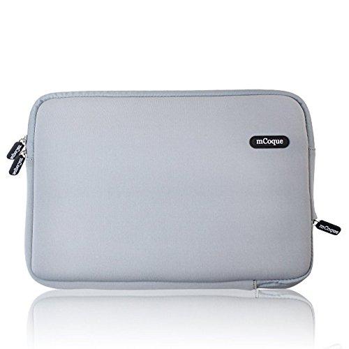 mCoque Business Neopren-Schutzhülle für Acer Chrombook 11 CB3-111 / CB3-131 / C670 / C720P / C720 / C710 / C7 / R11 11,6 Zoll (29,5 cm), Grau