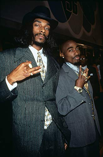 Tupac & Snoop Dogg (in Suits) Music Poster 12 x 18 inch Print Frameless Art Gift 30.5 x 46 cm Matte Paper Surface