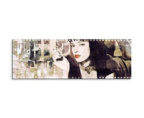 Paul Sinus Art Pulp Fiction Collage Hochwertiger Kunstdruck als Wandbild. (50x150cm)