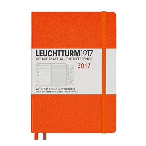 Leuchtturm1917 348230 Wochenkalender und Notizbuch, Medium, orange
