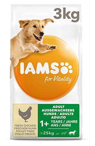 IAMS for Vitality Adult Hundefutter für große Rassen mit frischem Huhn, 3kg