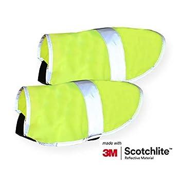 Salzmann 3M Manteau pour Chien Réfléchissant | Fabriqué avec 3M Scotchlite | Gilet de Sécurité pour Chien de Haute visibilité | Taille XL