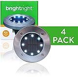 BRIGHTRIGHT - Outdoor Solar Disk Lights - 8 LEDs - Waterproof Landscape Lighting - Yard, Garden,...