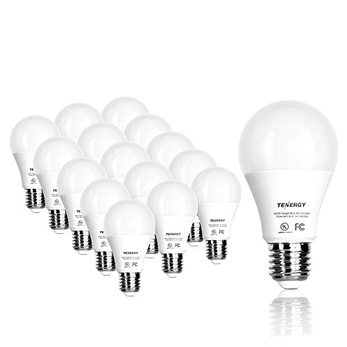 Tenergy LED Light Bulb, 9 watts Equivalent A19 E26 Medium...
