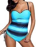 Socluer Bikini da Donna Tankini Set da Due Pezzi Summer Beach Push Up Bikini Costumi da Bagno