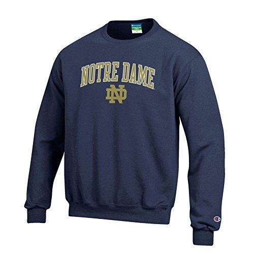 Elite Fan Shop Notre Dame Fighting Irish Crewneck Sweatshirt Arch Navy - XX-Large