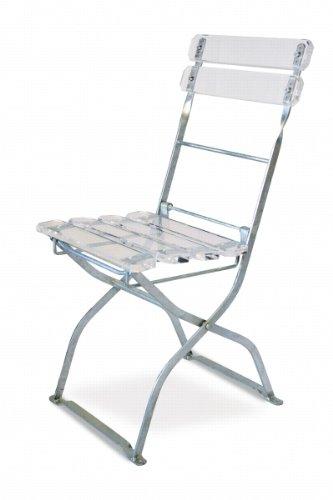 EuroLiving Design Acrylglas Stuhl Edition-Acryl acryl/verzinkt