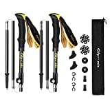 Glymnis Trekking Poles Hiking Poles Walking Sticks 2 Pack Adjustable Foldable Lightweight