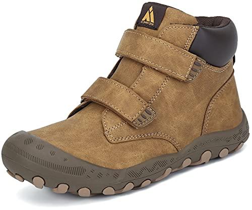 Mishansha Dziecięce buty trekkingowe i do wędrówek, oddychające buty outdoorowe dla chłopców i dziewczynek, rozmiar 24-38, Styl 1 brązowy, 38 EU