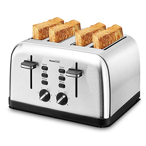 Geek chef Air Fryer Oven 19 Quart Air Fryer,4 slice Toaste Oven,Combo Oven Countertop Cooker,Baking Pizza Chicken Steak Fish and Cooking Accessories,Bagel Toaste Rack,Cake Pan,French fries Basket,Oil Trays, Recipes 1500W Reheat