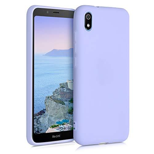 kwmobile Coque Compatible avec Xiaomi Redmi 7A - Housse Protectrice pour Téléphone en Silicone Violet Pastel