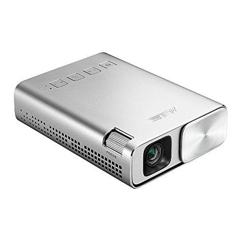 ASUS ZenBeam E1 ポケット LED プロジェクター(小型ミニ/ 150ルーメン/ 6,000mAh バッテリー内蔵 /5時間の...