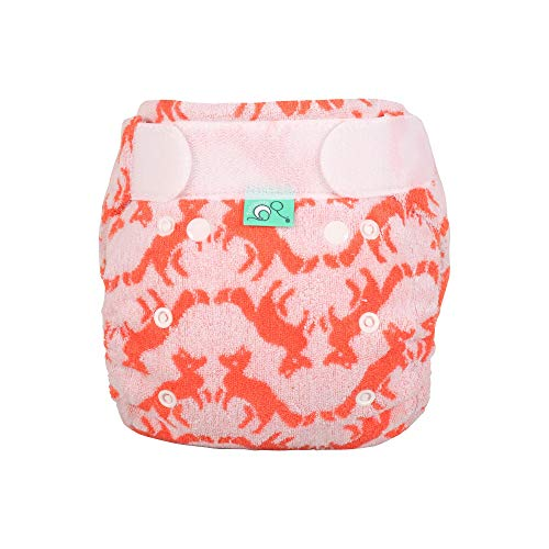 TOTSBOTS - Bamboozle Night Nappies - Eco-Friendly Reusable Nappies for Babies, Made from Bamboo - Foxtrot (6-18lbs)