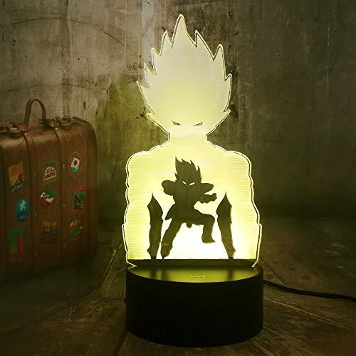 Anime Action Figuur nachtlampje voor kinderen 3D illusie lamp 7 kleuren wijzigen met afstandsbediening sfeerlicht, vakantie en verjaardagscadeau voor jongens meisjes