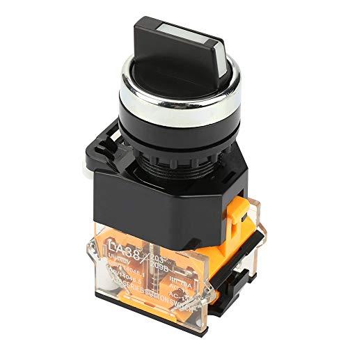 Selector giratorio momentáneo de 2 posiciones 22 mm Selector de interruptor de reinicio automático LA38-11BX22