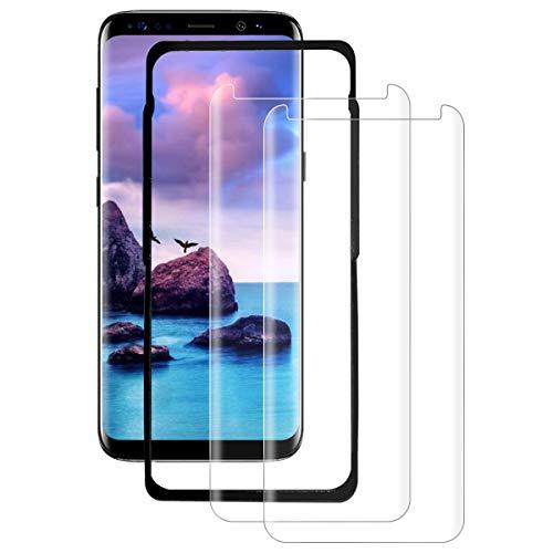 SYANFI [2 Pezzi] Vetro Temperato per Samsung Galaxy S8 Plus, Pellicola Protettiva 3D Copertura Completa, Anti-Graffi, 9H Durezza, Senza Bolle, HD Chiaro