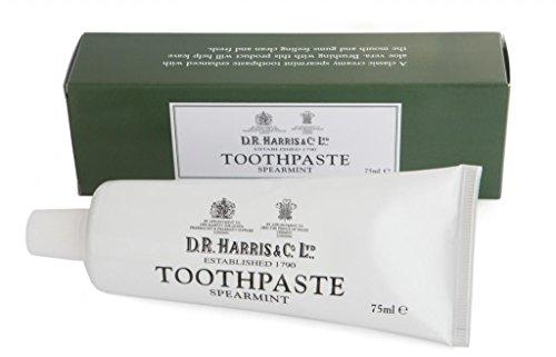 D. R. HARRIS Spearmint Toothpaste 75ml | Fluoride-Free & Enhanced With Aloe Vera.
