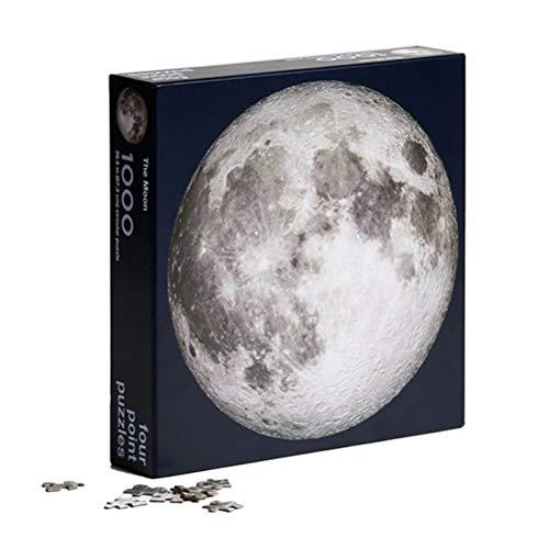 Puzzle Solar System 1000 Piezas, Rompecabezas Circular de Bricolaje Luna y Tierra, Rompecabezas Circular difícil, Juego de Rompecabezas, para niños Adultos