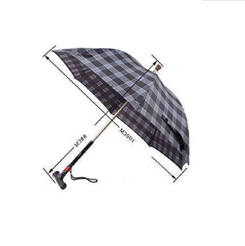 WANGXIAOLINshouzhang Gehstock Stuhl -Old Regenschirm Regenschirm Stockschirm Rohrschirm Multifunktions - Smart Krücken Regenschirm kreative Anti - Rutsch Gürtel Lichter